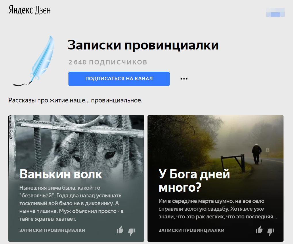 Канал в Яндекс.Дзен - Записки провинциалки