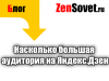 Насколько большая аудитория Яндекс.Дзен