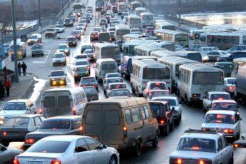 Что на мосту в Томске пробки